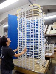 高層タワー型マンション模型製作法-2