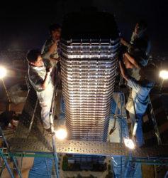 高層タワー型マンション模型製作法-4
