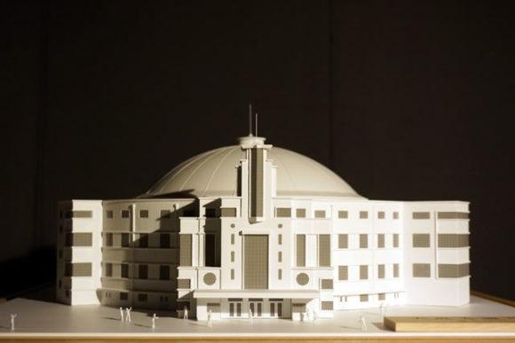 「大阪大国技館」復元模型の収受式・除幕式挙行