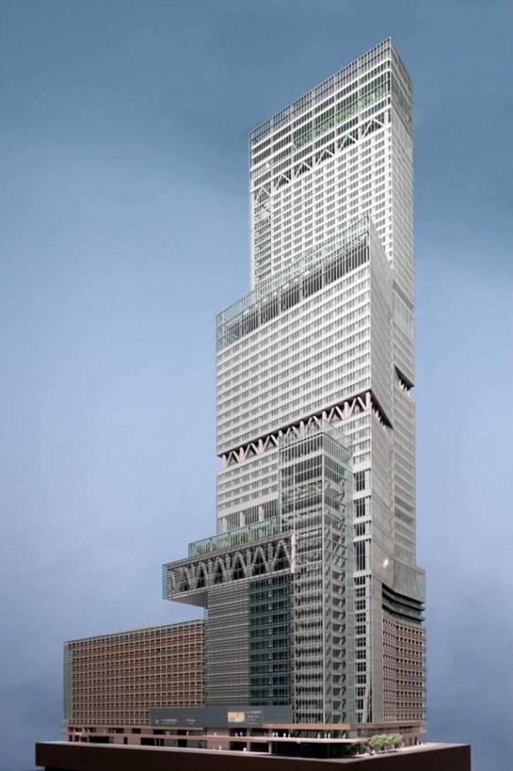 あべのハルカス17階に展示されている1/200模型